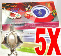 販売人気ギフト卸売5xミックス異なるペンダント願い真珠necklacegift box-who3622卸売/小売送料無料