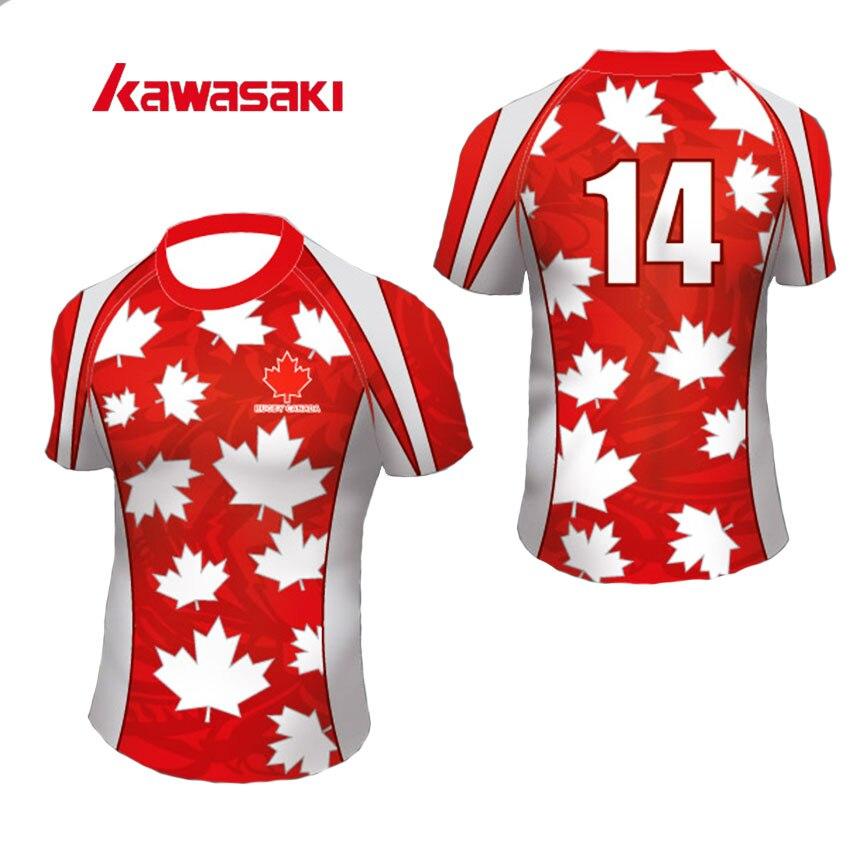 Kawasaki značky Rugby Jersey pánské ženy krátký trénink vlastní rychleschnoucí sportovní tým na sobě dresy trička plus velikost XS-4XL