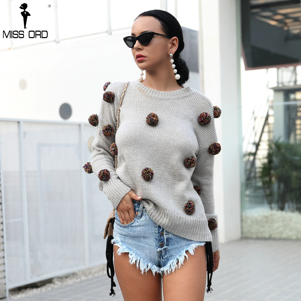 Missord Ball Decorative Knitted Sweater TB0046