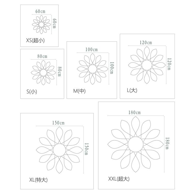 ▻Pétalos de Flores de Estilo creativo Decorativo de Acrílico Espejo ...