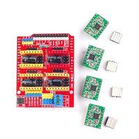 New Cnc Shield V3 Engraving Machine 3D Printer 4pcs A4988 Driver Expansion Board For Arduino