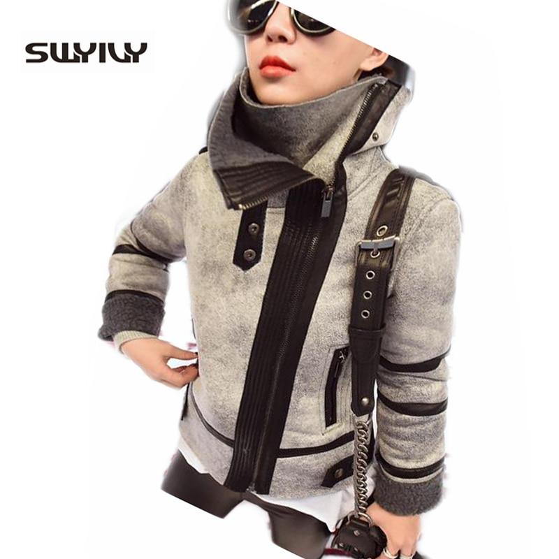 New Ladies Women Winter Warm Biker Motorcycle Suede Leather Jackets Casual Parka Faux Fur Coat Top Jaqueta De Couro