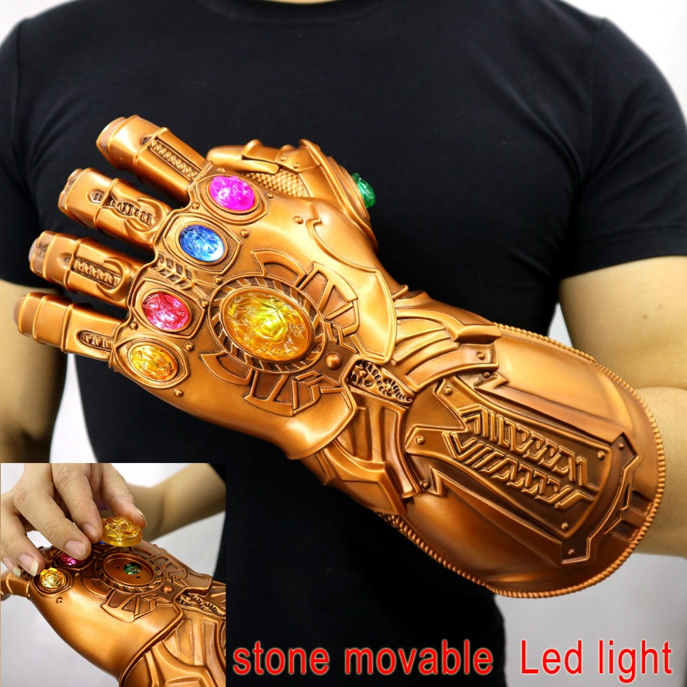 Avengers Endgame Thanos Infinity Gauntlet Gloves Stone Movable Led Light Infinity War Glove Avengers Thanos Glove