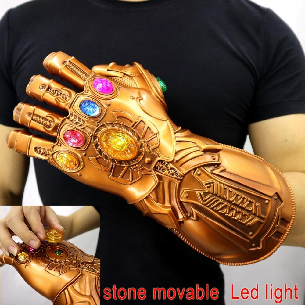 Avengers Endgame Thanos Infinity Gauntlet Gloves Stone Movable Led Light Infinity War Glove Avengers Thanos Glove