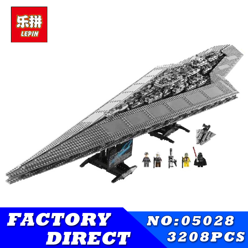 LEPIN 05028 3208PCS Star Series Wars Imperial Star Destroyer Model Action Building Blocks Bricks Compatible 75055 Children Toys single sale star wars superhero marvel avengers iceman x men building blocks action sets model bricks toys for children