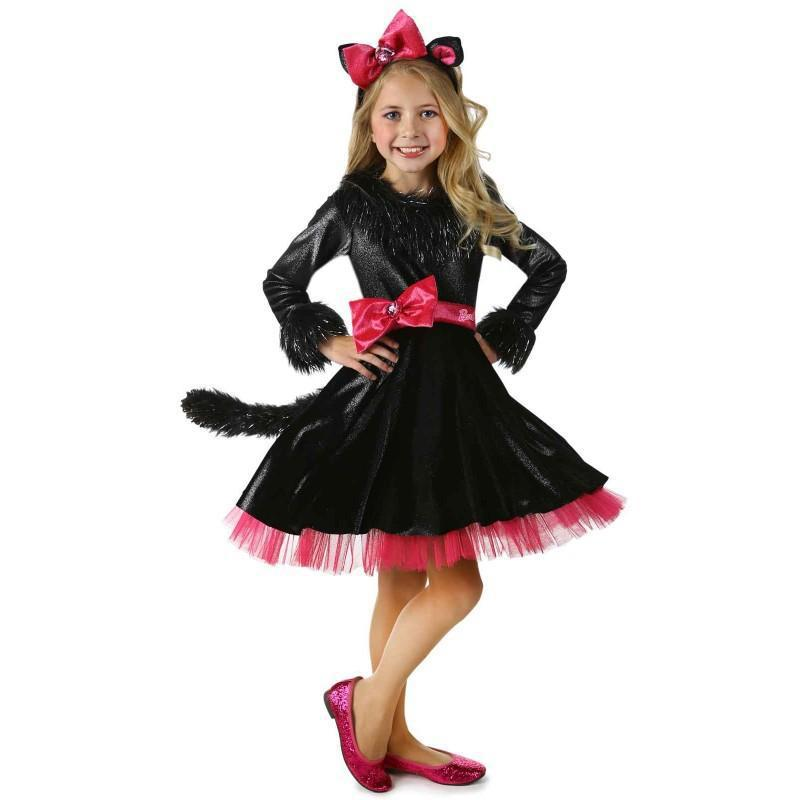 c9e20eb61e4 Halloween costume party little girls cat costumes mask party cute ...