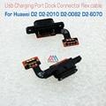 Piezas de repuesto para huawei d2 d2 d2-2010 d2-0082 d2-6070 puerto usb tablero de carga junta flex cable usb envío rápido
