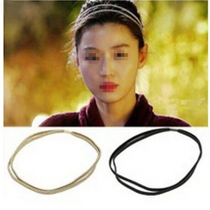 Hair-Accessories Ribbon Golden-Headband Silver Korean-Style Girls for JWD74