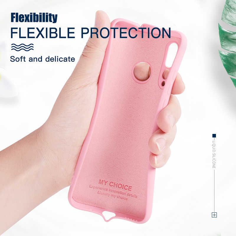 Original Liquid Silicone Case For Xiaomi Mi 9 SE 8 Lite A2 MIX 2 3 2S 6X Mi Play Slim Soft Cover Cases Redmi Note 7 6 Pro 6A CC9