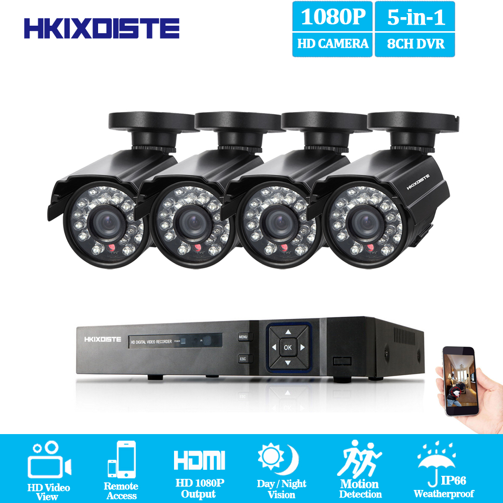 8CH CCTV System 1080P HDMI Output Video Surveillance DVR Kit with 4PCS 1080P Home CCTV Security Camera System 2.0MP AHD Camera8CH CCTV System 1080P HDMI Output Video Surveillance DVR Kit with 4PCS 1080P Home CCTV Security Camera System 2.0MP AHD Camera