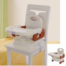 Safe PP Plastic Portable Adjustable Dining Highchair for Children With Three-point Seat Belt Security Folding Baby Feeding Chair