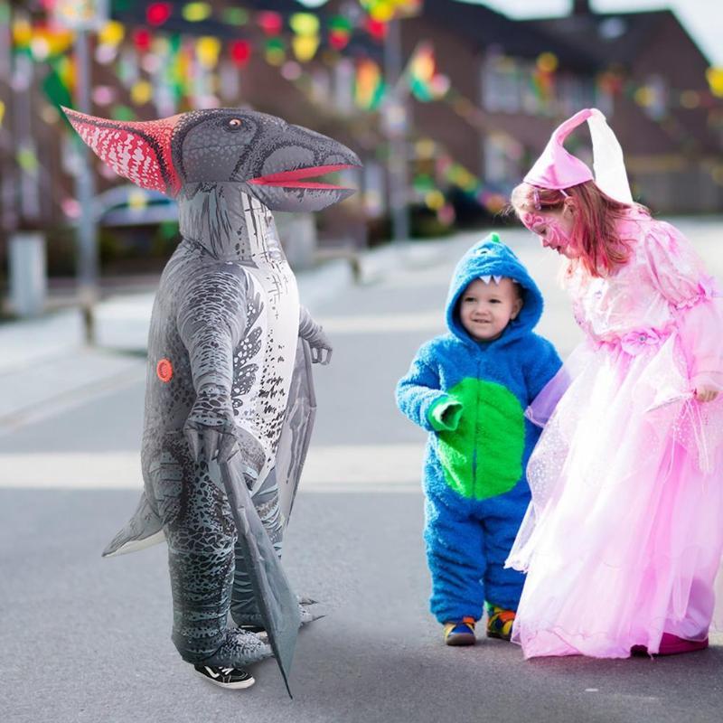 Costume gonflable de ptérosaure de bande dessinée pour les enfants adultes Halloween Cosplay vêtements combinaison de fête vacances bricolage décorations