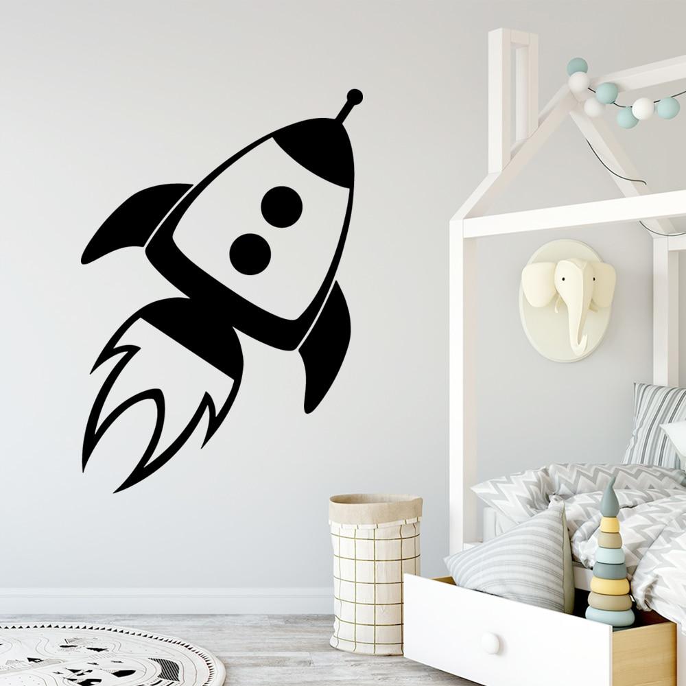 Luminous Wall Sticker Stars Moon Spaceship Pvc Stickers Creative Wall Decor D Decor Decals Stickers Vinyl Art Stickers