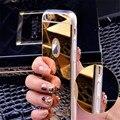 Телефон Case Мода Роскошные Зеркало Soft Case For iPhone 7 7 Plus 5 5S 6 6 S Case TPU Крышка Рамка 6 6 Плюс 5.5 дюймов Ультра Тонкий Ясно