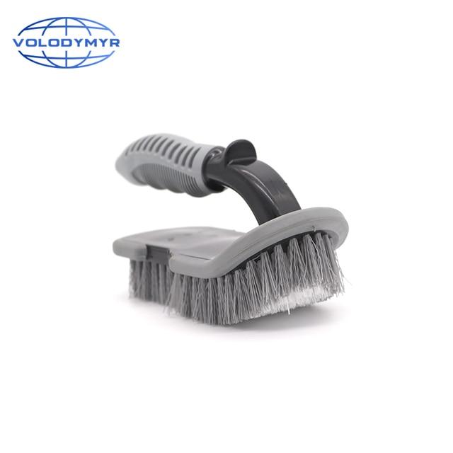U Tipo de Escova com PP Non slip Punho Roda Mais Limpo para o Assoalho Do Carro e Mat Tronco Auto Detalhamento de Limpeza máquina de Lavar Roupa