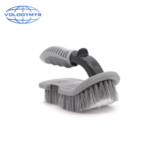 U Type Brush with PP Non slip Handle Wheel Cleaner for Car Floor and Trunk Mat Auto Cleaning Detailing Washing