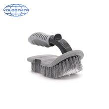 U tipi fırçası ile PP kaymaz saplı tekerlek temizleyici zemin ve gövde Mat otomatik temizleme detaylandırma yıkama