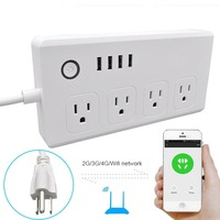Wifi Smart Power Strip Multi Plug Power Socket Plug Outlet Work with Alexa for Voice Controls Smart Home US