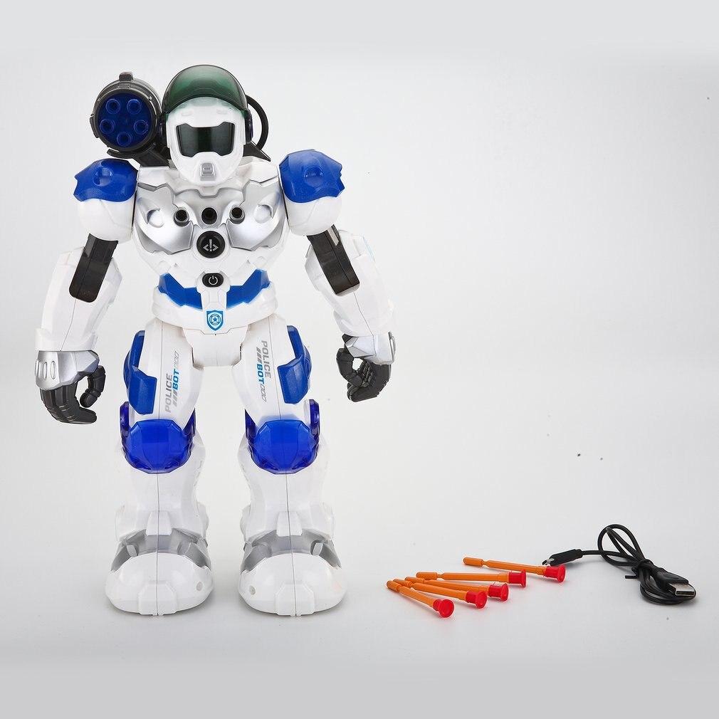 Programmable Combat Defender Intelligente RC Robot Danse Marche Lumière Musicale Kid Jouet Avec Télécommande D'anniversaire Cadeaux