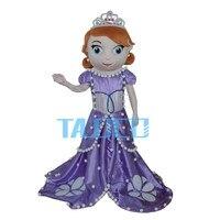 Принцессы Софии костюм талисмана София Первый Хэллоуин вечерние платье для взрослых