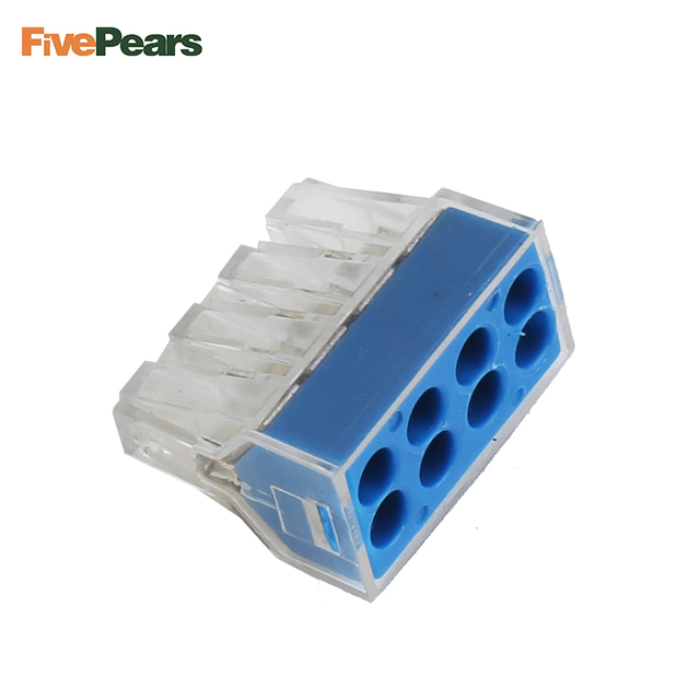20 PCS PCT 108 Push wire wiring connector For Junction box 8 pin ...