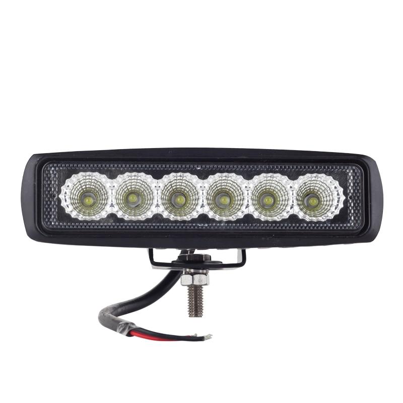10pcs DRL 12-24V 18W LED Work Light Spot Tractor 4x4 Motorcycle Off road ATV LED Work Light External Light