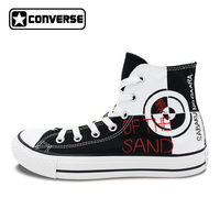Black Classic Converse All Star Design Anime Shoes Naruto Sabaku Gaara Hand Painted Canvas Sneakers Brand