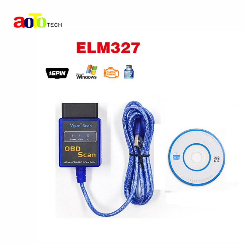 Vgate USB ELM327 OBD2/OBDII ELM 327 V2.1 Auto code reader OBD SCAN car diagnostic tool interface ELM327 USB