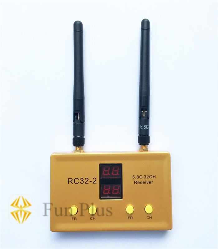 RC32-2 5.8G 32CH Dual-way Audio Video AV Transmitter TX Built-in Dual Receiver for FPV Multicopter new fr632 diversity 5 8ghz 32ch auto scan lcd a v receiver for fpv 5 8g tx transmitter