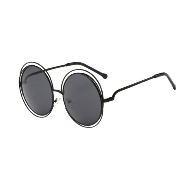 6f955abab5 Full Metal double circle wire frame Eyewear UV400 Frame Round Designer  Fashion Retro Sunglasses for women