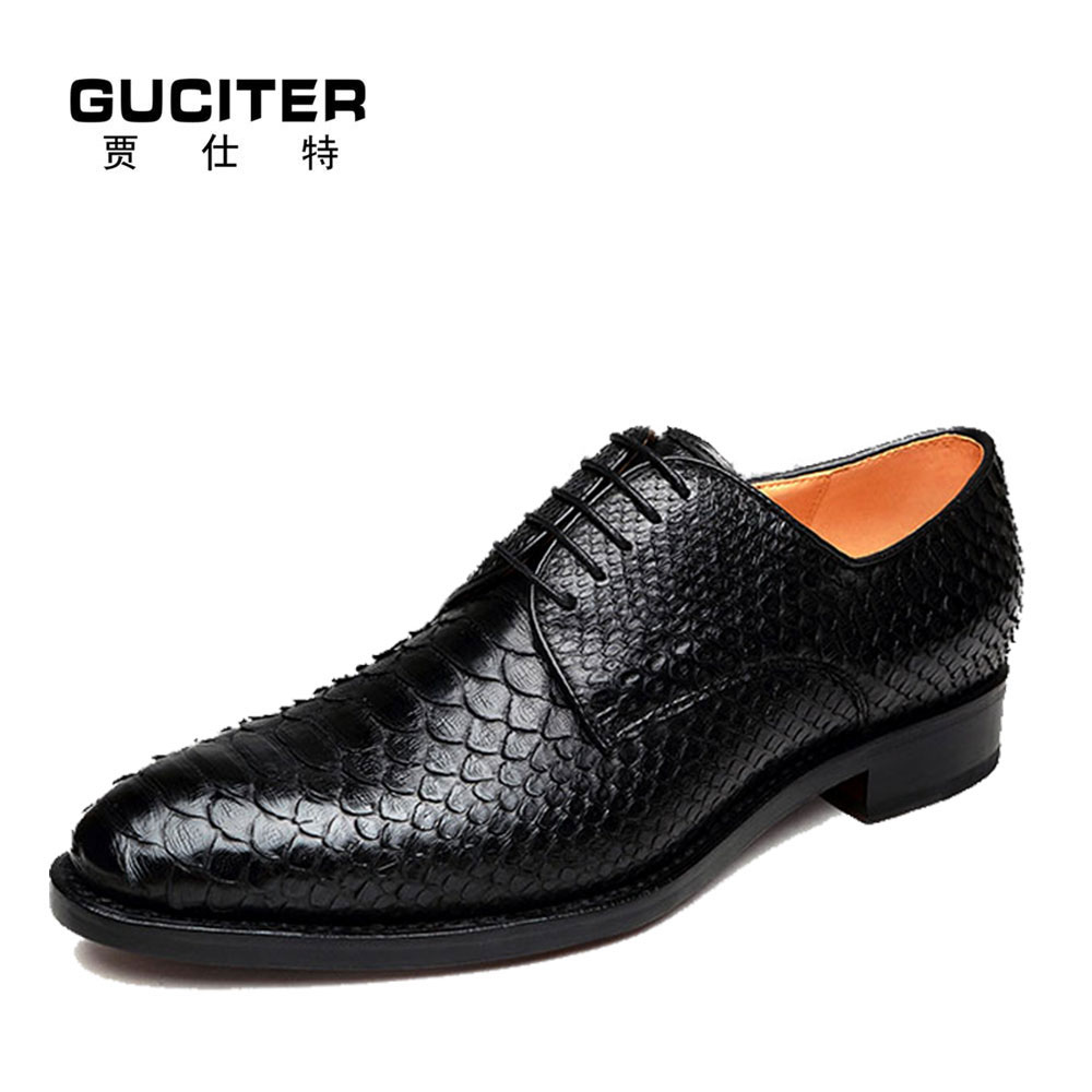 Python skin leather goodyear calfskin neri manual custom men's leather shoes men's shoes and wedding banquet men's leather shoes neri karra 0208 803 77 33