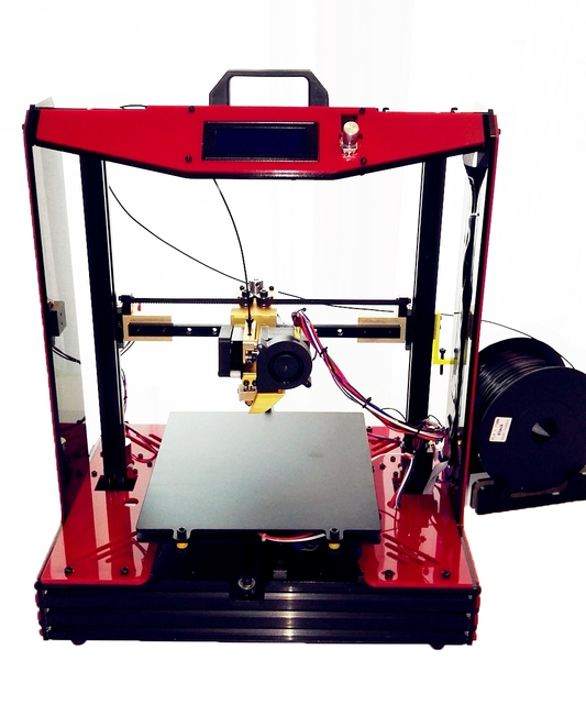 Large Reprap Prusa mendel  i4 Semi assembled imprimante 3d Machine Metal  Printer Dreamer Elektronic Diy Kit  Aluminum frame