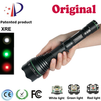 Zooming Cree XRE Green Red White Light Flashlight UF 1508 T50 Focusing Head Design Rechargeable Lamp
