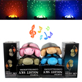 Led Night Light Toys for Baby Children Moon and Stars Projector 4 Colors With 4 Light Music Turtle Lamp Cute Design