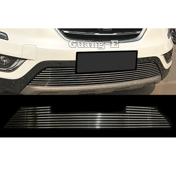 For Renault Koleos 2017 2018 2019 2020 Car Body Cover Stainless Steel Trim Front Up Grid Grill Grille Around Frame Lamp Parts