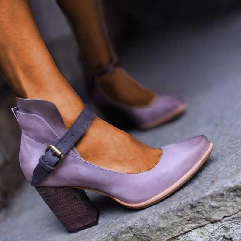 SHUJIN модные туфли-лодочки женские сандалии на высоком каблуке Ремешок на щиколотке летние Повседневное конопли комфорт толстые-низ Босоножки женские туфли-лодочки
