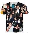 2016 Nuevo 3d Super Estrella Gráfico Camisetas Divertidos Nicolas Cage/Handsome Johnny Depp/Macaulay Culkin/Lindsay Lohan moda Tapas de La Camiseta