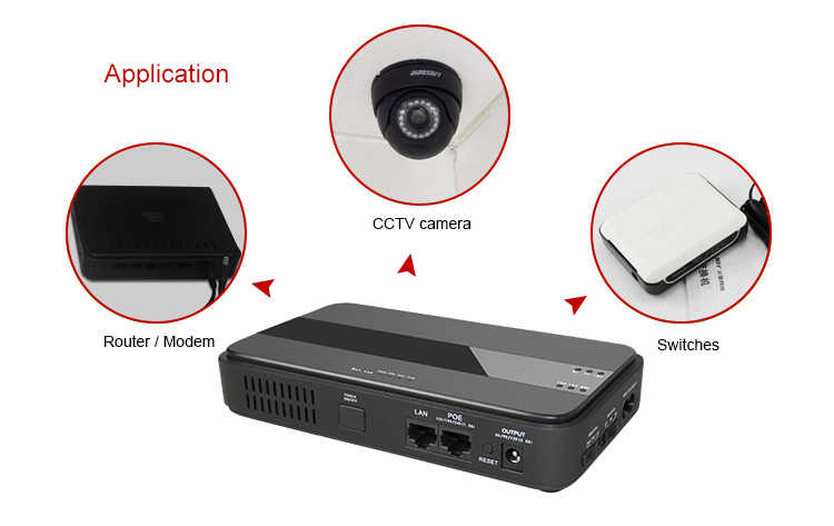45 Вт Мини Портативный ИБП с 15/19/24VDC POE (Мощность Over Ethernet) и 5/9/12VDC Интерфейс широкий 85 ~ 265VAC Напряжение адаптер Встроенный