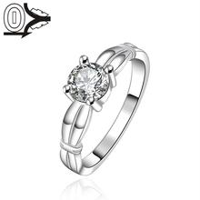 Free Shipping Wholesale Silver-plated Ring,Silver Fashion Jewelry,Women&Men Gift Round Crystal Stone Wheat Silver Finger Rings