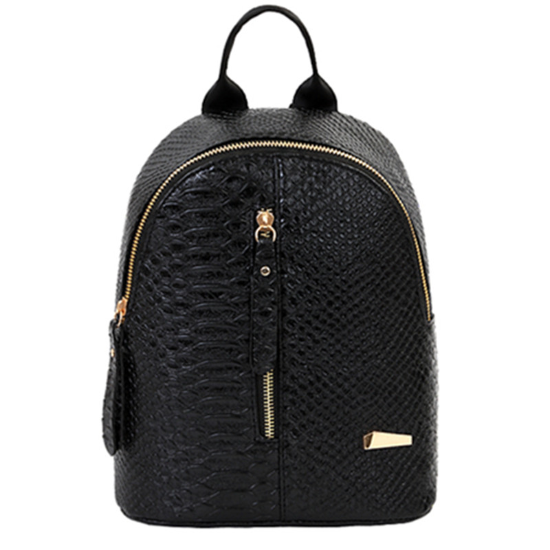 Fashion Decorated Teenage Girl Mini Backpack Travel Bag School Bag Pu Leather
