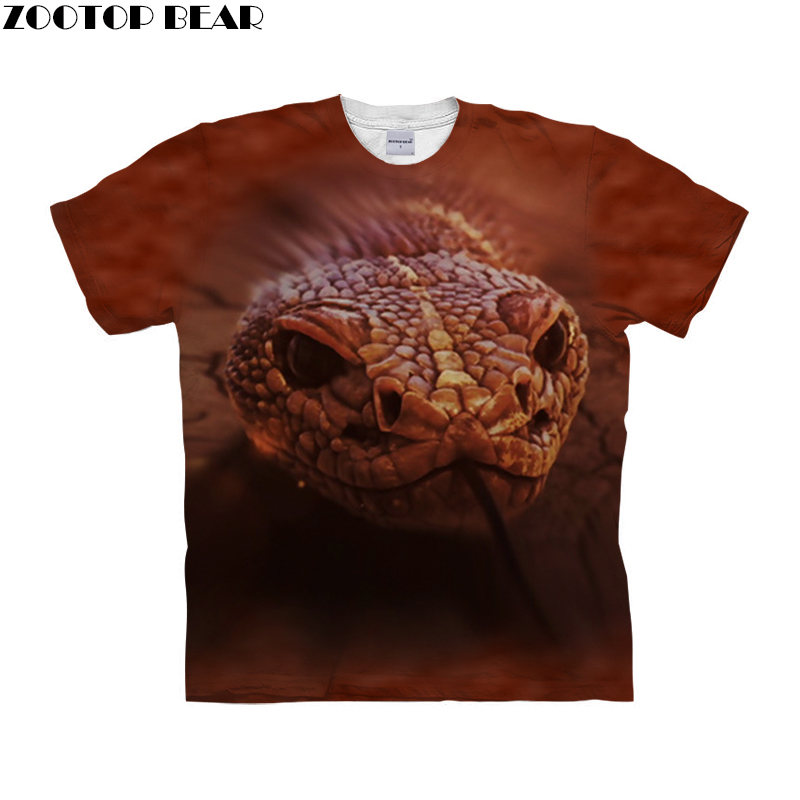 Anime Snake t shirt 3d t-shirt Men tshirt Brand Tee Printed Top Short Sleeve Camiseta Streetwear Clothing Drop Ship ZOOTOP BEAR