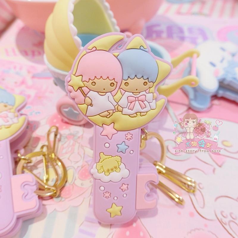 1 Pc Cute Cartoon Cinnamoroll my Melody Little Twin Stars Pudding Dog Comics Hair Pin Hair Clip for Girls Gift Toy Figure-2