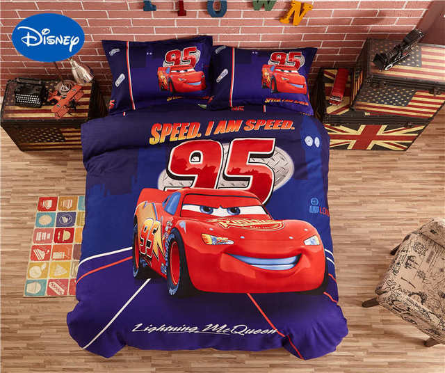 Awesome Disney Lightning McQueen Car Cover Bedding Sets Bedspreads Sheets Polyester  Woven Bedroom Decor Single Twin Full
