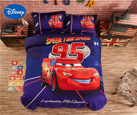 Disney Lightning McQueen Car Cover Bedding Sets Bedspreads Sheets Polyester Woven Bedroom Decor Single Twin Full