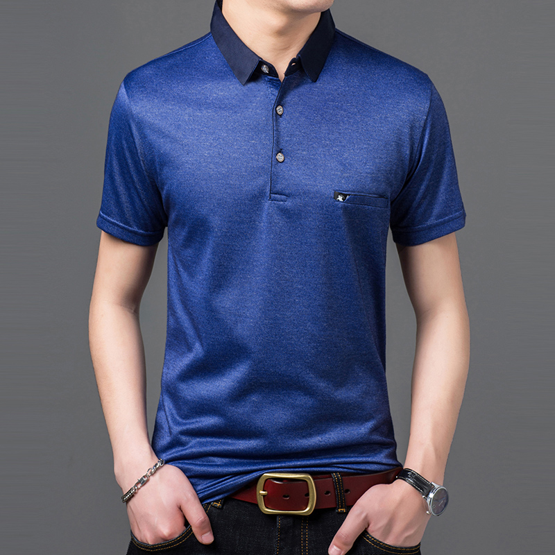 2019 New Fashions Brand Designer   Polo   Shirt Mens Solid Color Summer Slim Fit Short Sleeve Top Grade   Polos   Casual Men Clothing