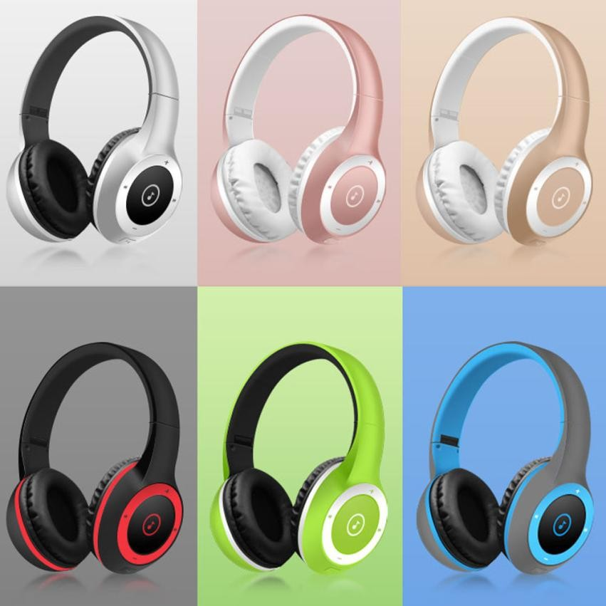 Cool Stereo Bluetooth Headphones Wireless Headset Foldable Gaming Headset earphone V4.0 with Mic for Pc Mac SmartPhones