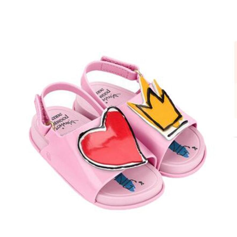 Мемон Летом Стиль туфли для девочек Мода Цветок Grils Обувь Мягкой Кожи Плоский Каблук Чика Sandalias для Детских Детей