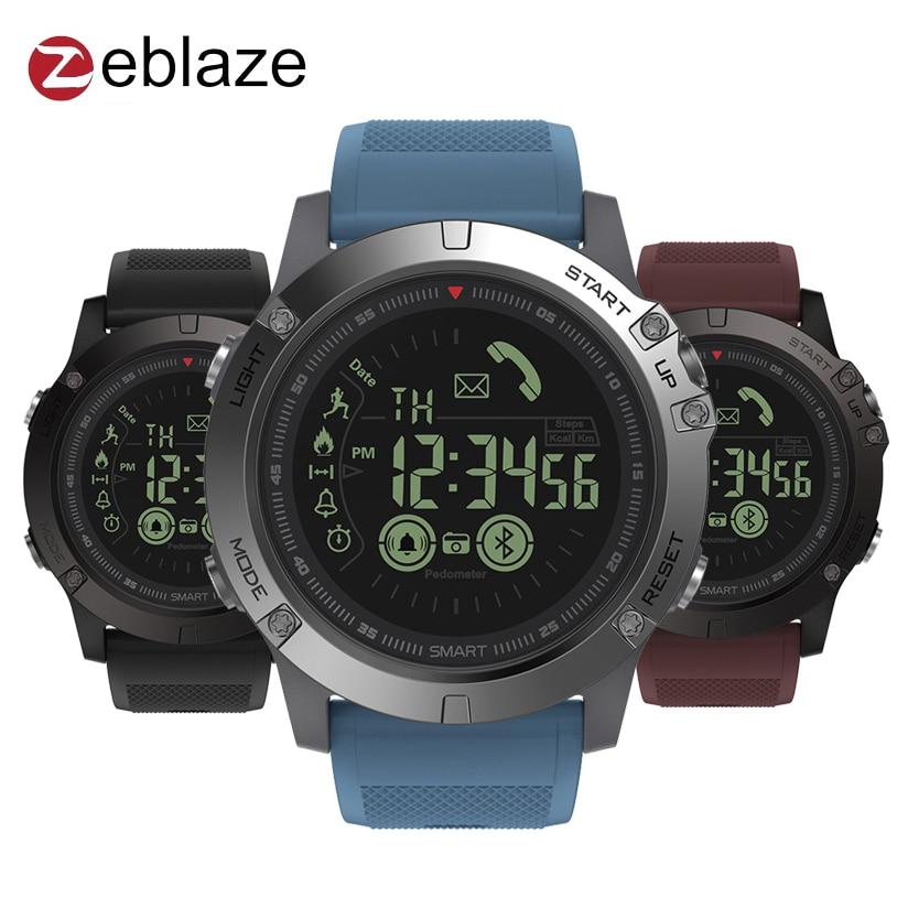 Zeblaze VIBE 3 GMT Deux Endroits Tous-jour Relevé D'activité de Sport 33 Mois Longue Attente Informations Rappel Smartwatch Intelligent montre