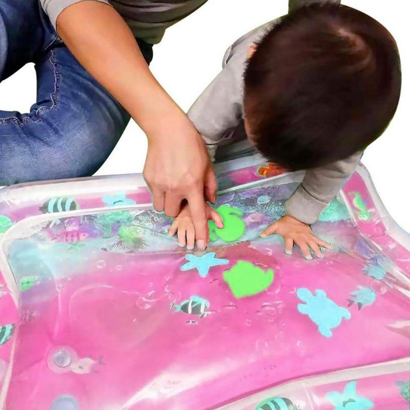 Creative Infants Inflatable Playmat With Inflater Baby Fun Activity Inflatable Pad Children Fun Water Cushion Gyms Mat With Pump
