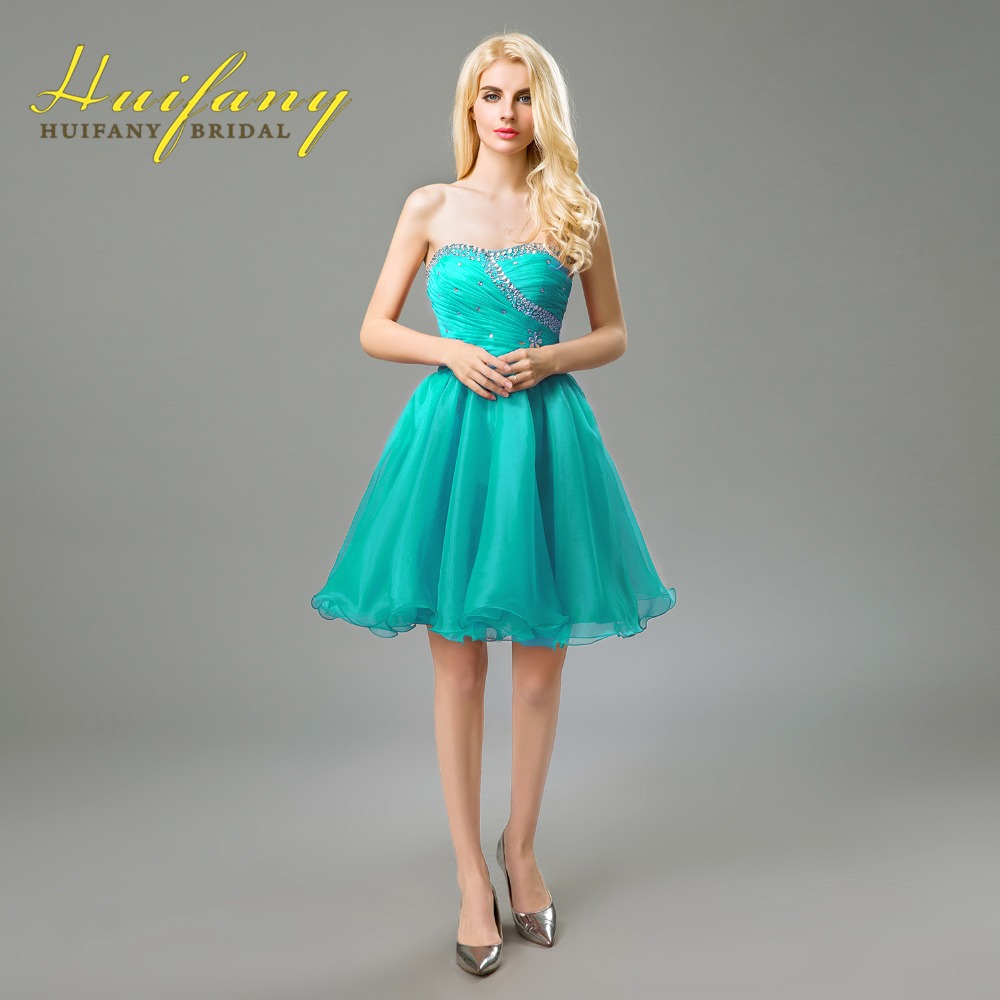 2017 Homecoming Party Dresses Sweetheart Crystal Beadings Short Prom ...